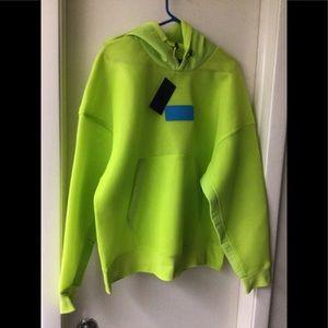 Nike men's Jordan neon green light pullover hoodie